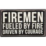 """FIREMEN"" BOX SIGN"