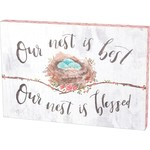 """""""OUR NEST IS BEST"""" WALL DECOR"""