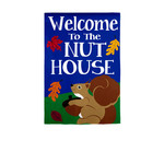 GARDEN FLAG WELCOME TO THE NUT HOUSE