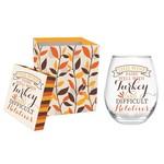 WINE AND TURKEY STEMLESS WINE GLASS