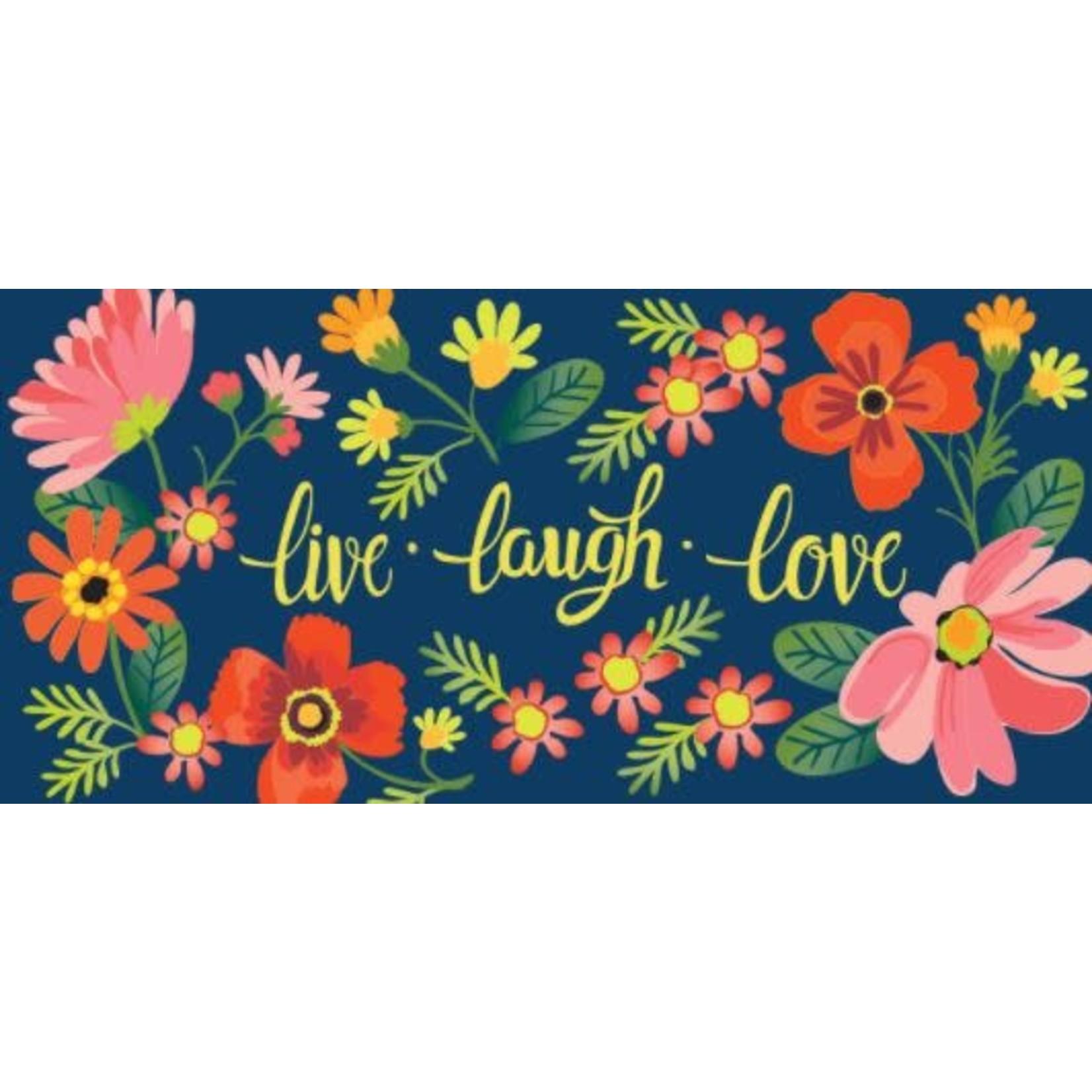 LIVE LAUGH LOVE FLORAL SASSAFRAS MAT