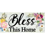 SHIPLAP FLORAL BLESS THIS HOME SASSAFRAS MAT