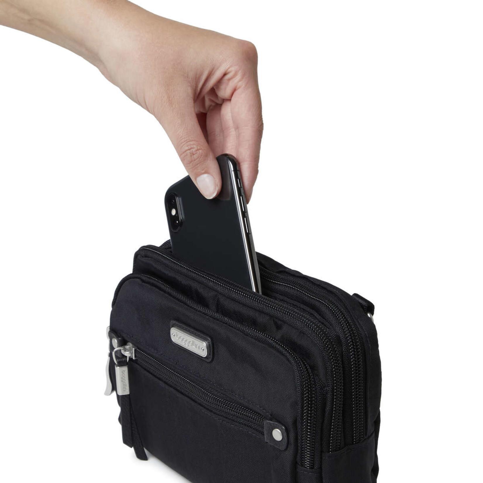 Baggallini TIME ZONE RFID BAG IN BLACK