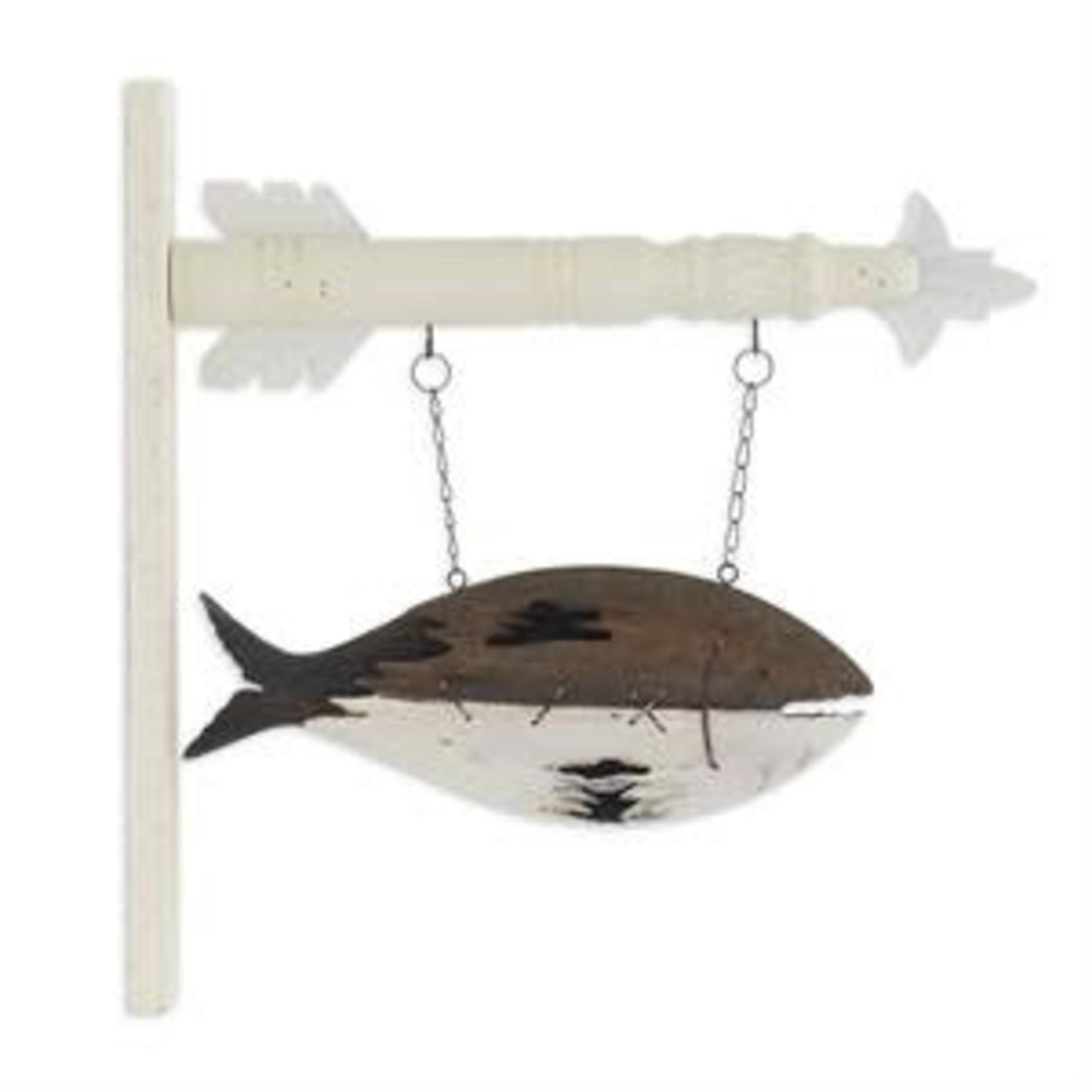 "13"" BRWN/WHT WOOD FISH ARROW"