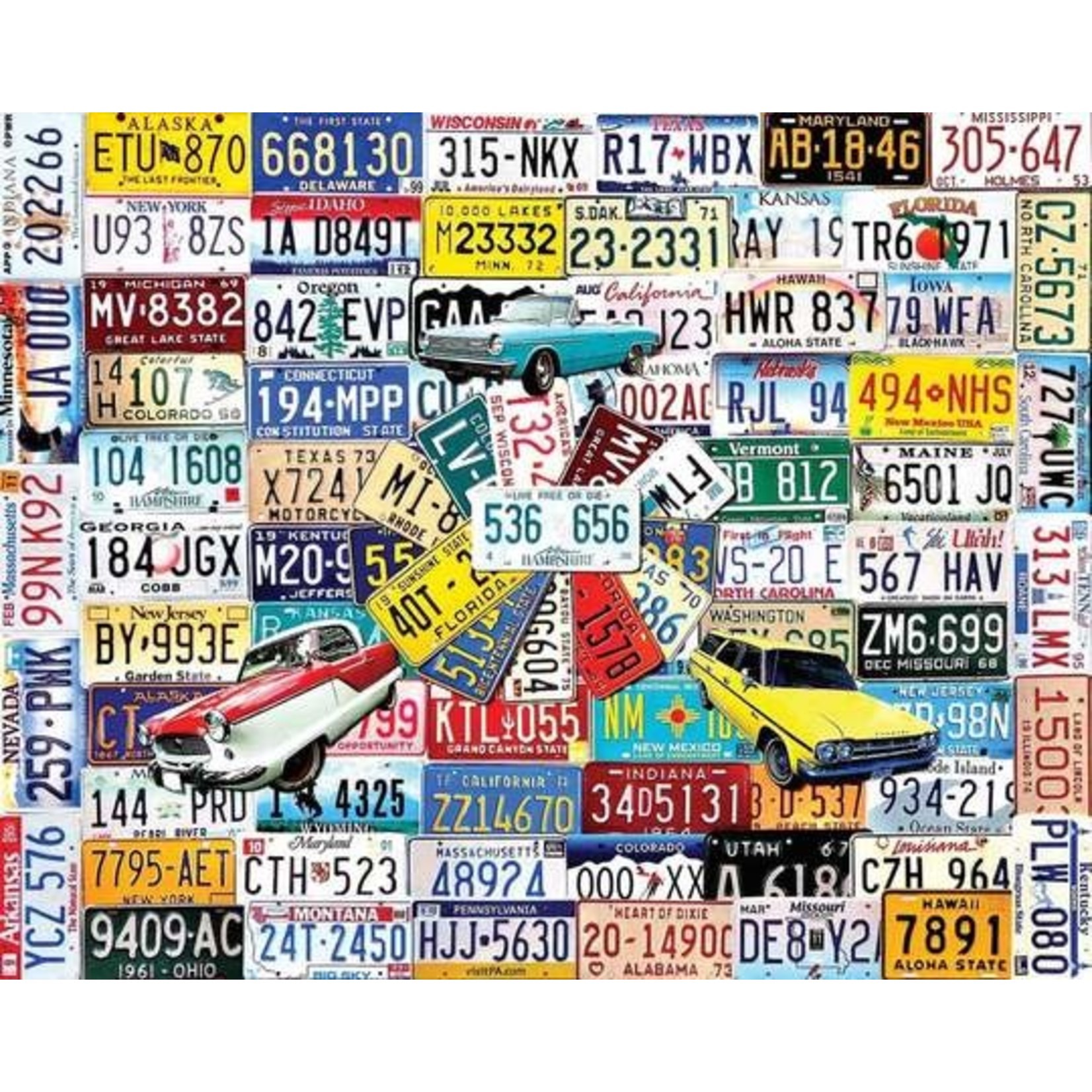 PUZZLE, STATE PLATES