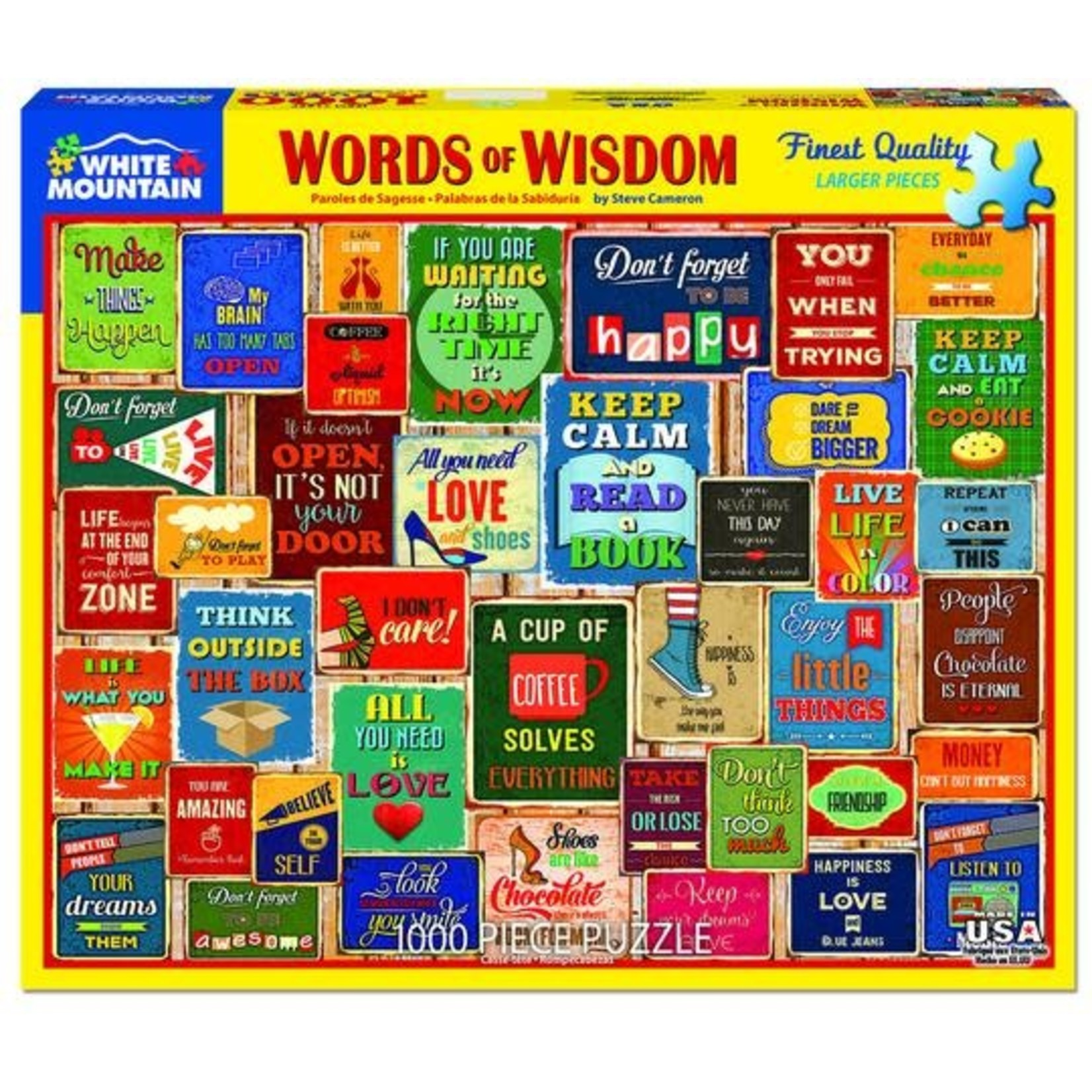 WORDS OF WISDOM PUZZLE