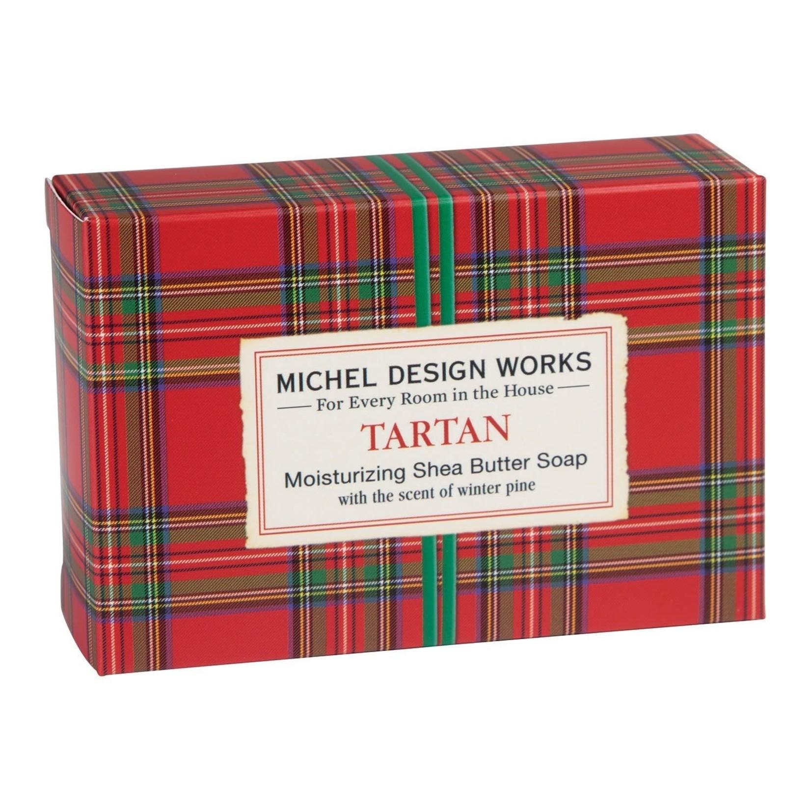 Michel Designs TARTAN RED PLAID BOXED SOAP