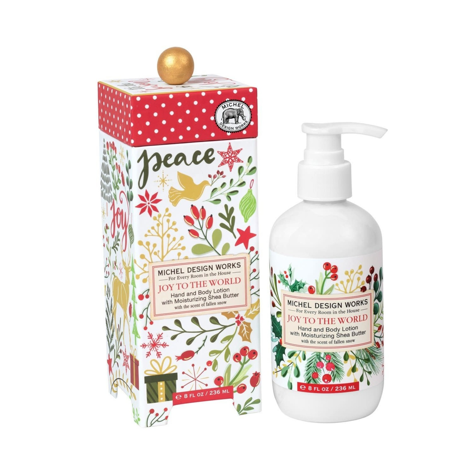 Michel Designs # JOY TO THE WORLD LOTION