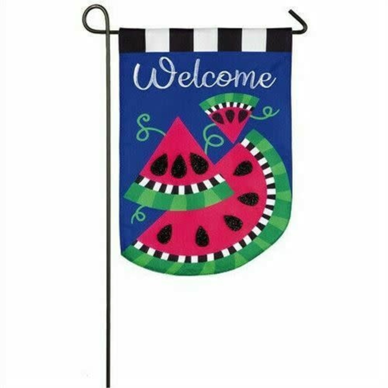 GARDEN FLAG WATERMELON WELCOME