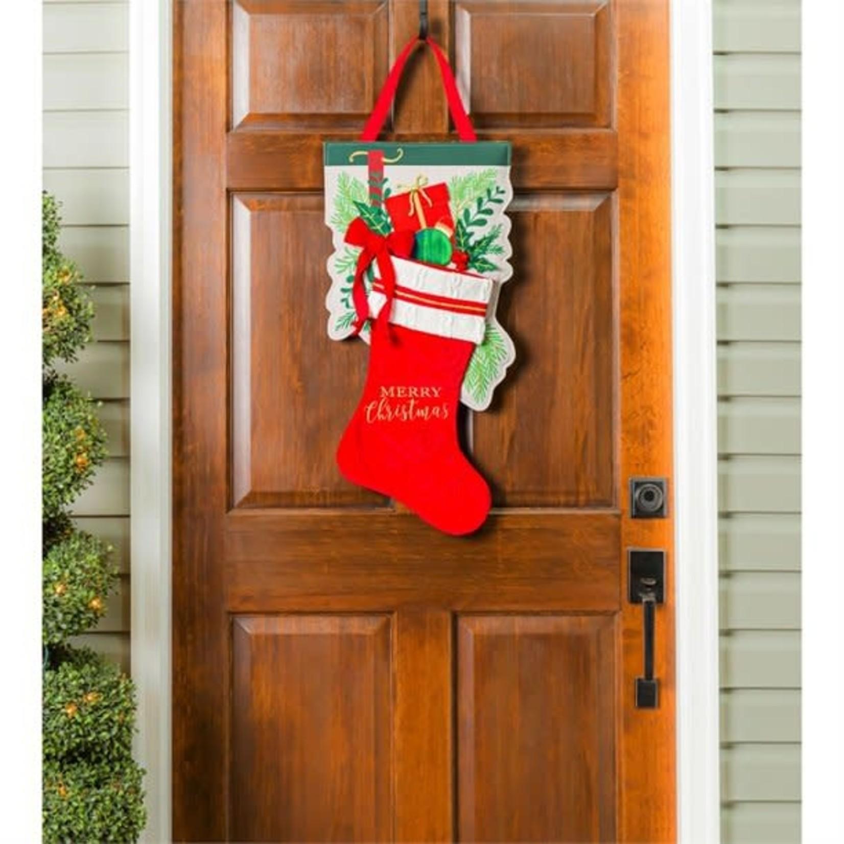 #DOOR DECOR MERRY CHRISTMAS STOCKING