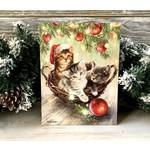 CHRISTMAS KITTENS CANVAS ART