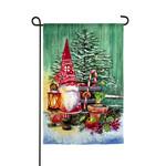 CHRISTMAS GNOMES GARDEN FLAG