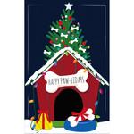 HOLIDAY DOG HOUSE GARDEN FLAG