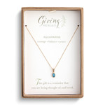 GOLD GIVING NECKLACE in AQUAMARINE