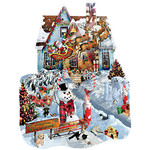 CHRISTMAS AT OUR HOUSE SHAPE PUZZLE