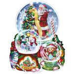 3 SNOW GLOBES CHRISTMAS PUZZLE