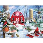 A SNOWY DAY ON THE FARM PUZZLE