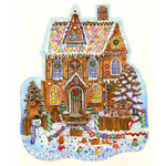 GINGERBREAD HOUSE SHAPED PUZZLE
