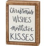 BOX SIGN MINI CHRISTMAS WISHES...