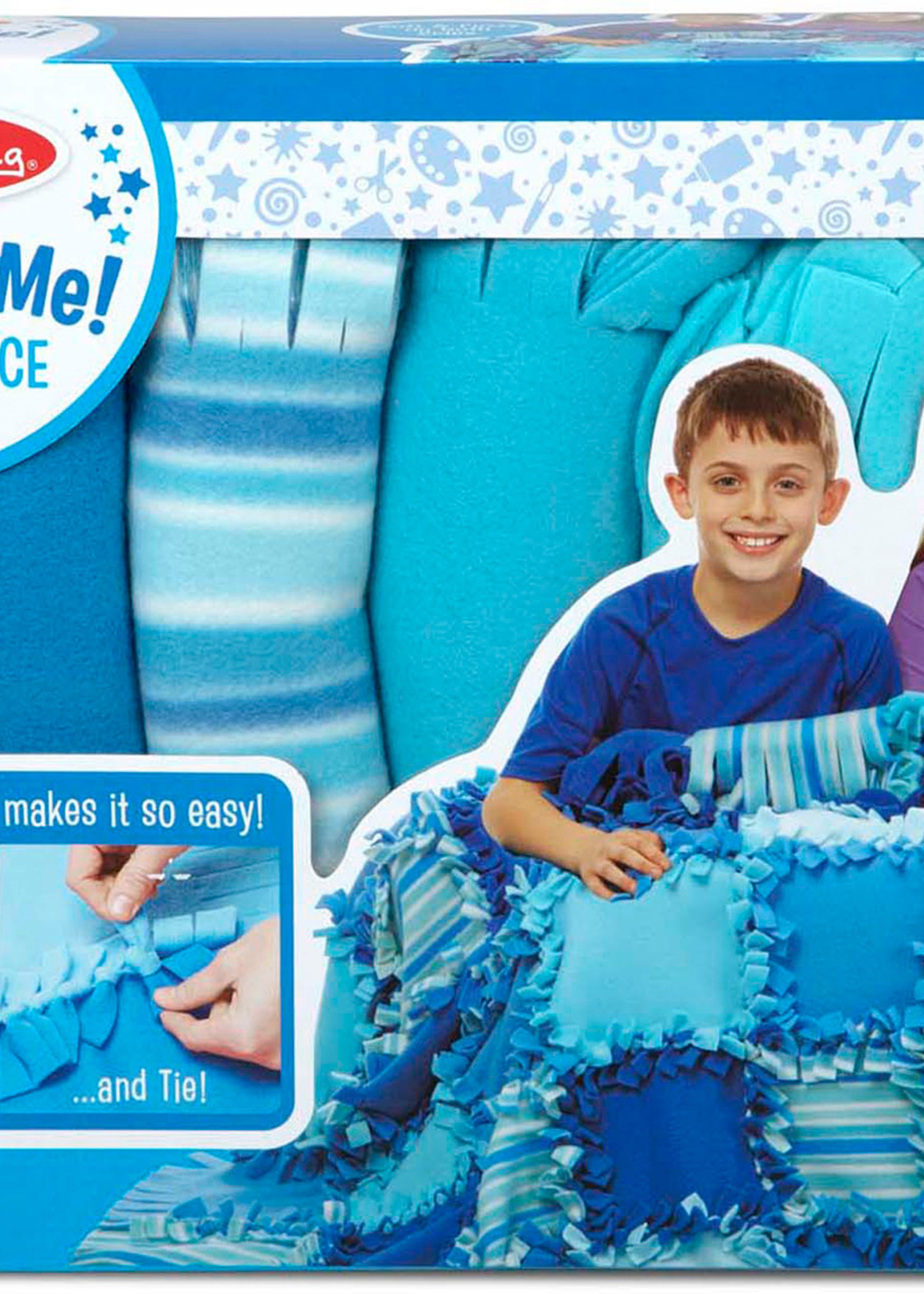 Melissa & Doug Created By Me! Striped Fleece Quilt