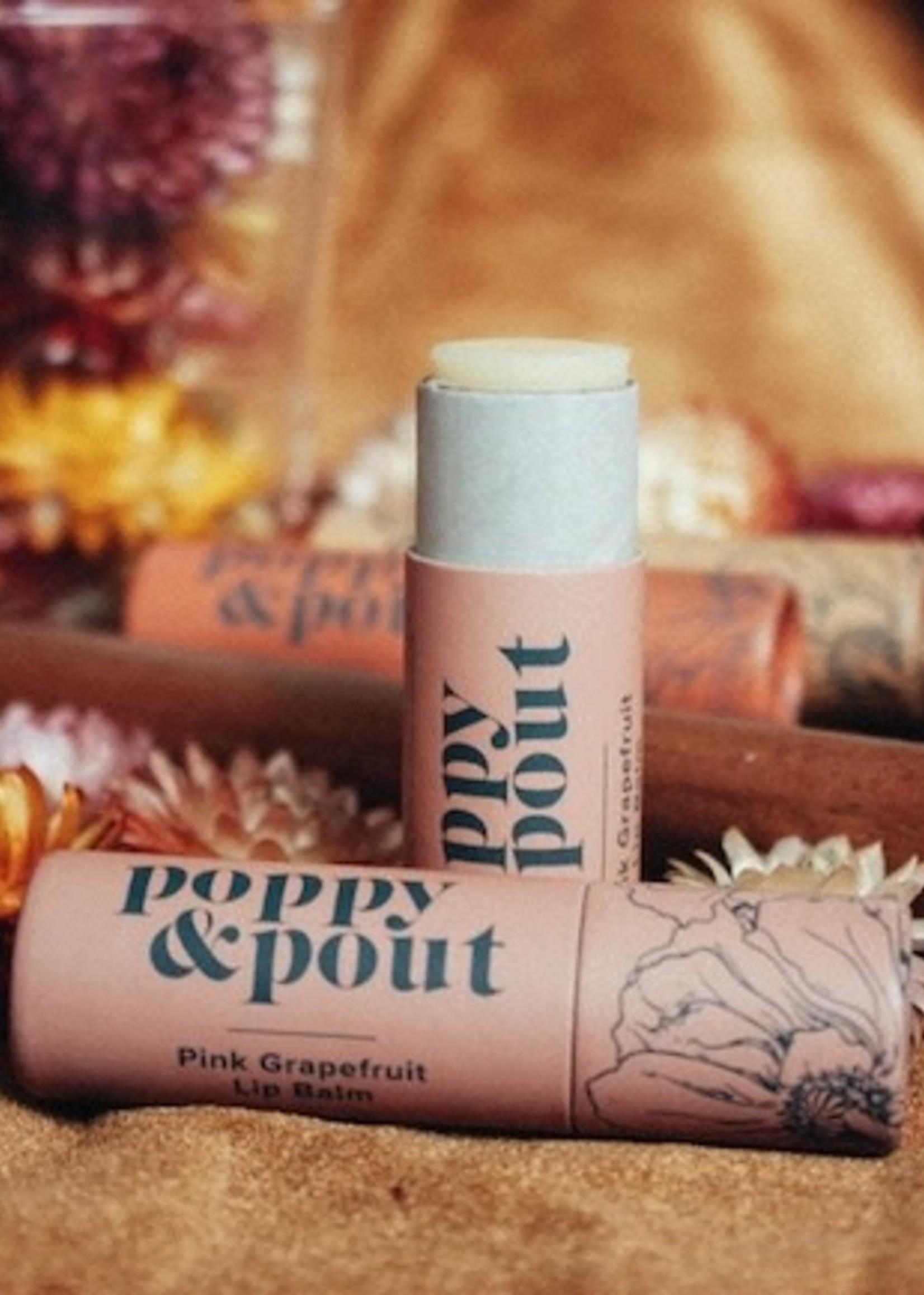 Poppy & Pout Pink Grapefruit Lip Balm
