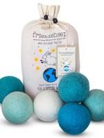 Friendsheep Blue Ocean 6-Pack Dryer Balls