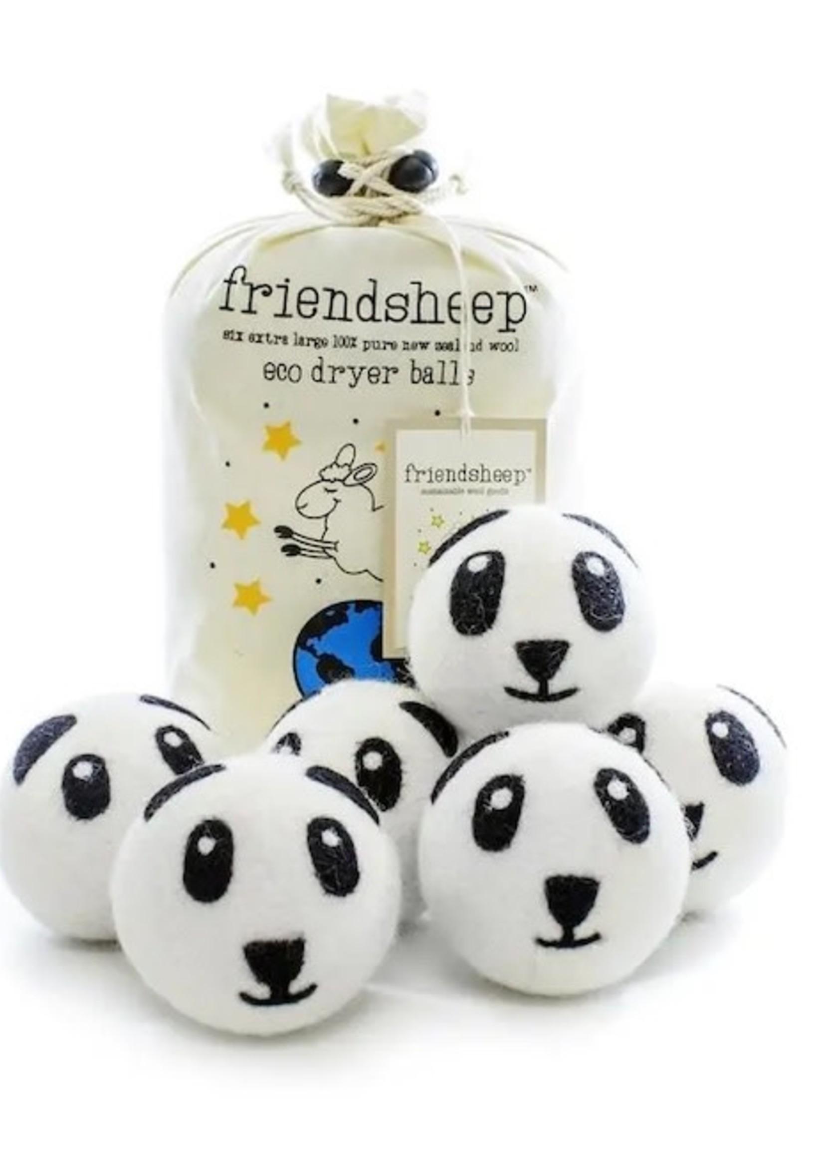 Friendsheep Panda 6-Pack Dryer Balls