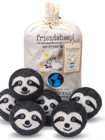 Friendsheep Sloth Squad Set of 6 Eco Dryer Balls