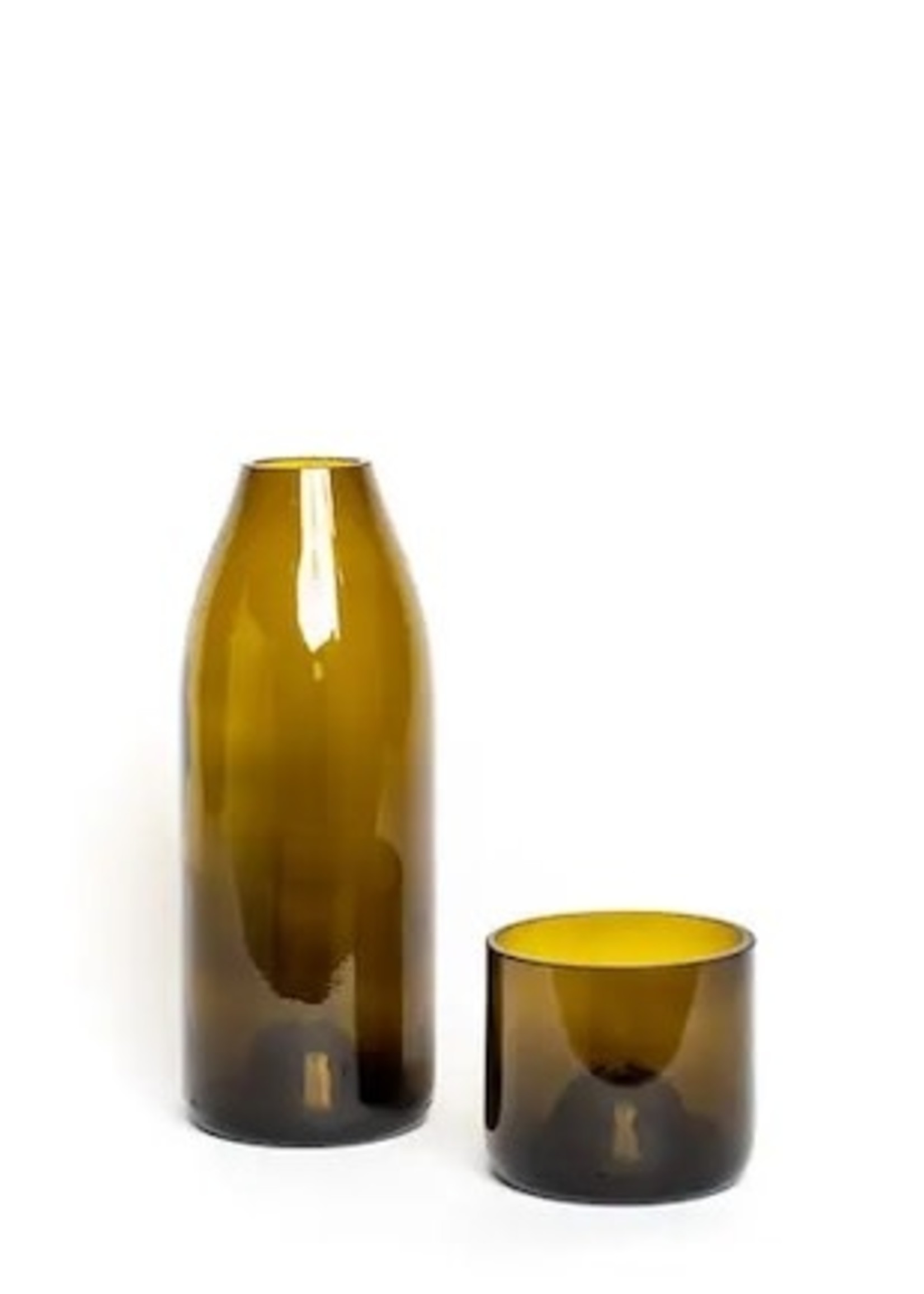 Glassed Over Carafe Set