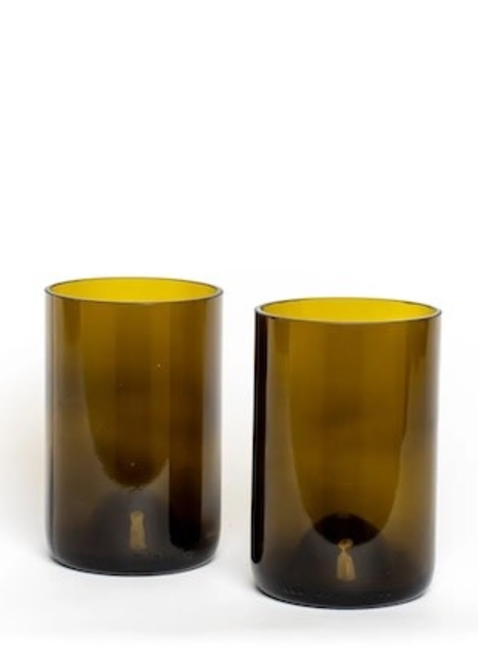 Glassed Over Brown Drinking Glass