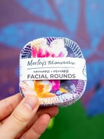 Marleys Monsters Purple Floral Facial Rounds