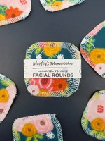 Marleys Monsters Fall Floral Facial Rounds