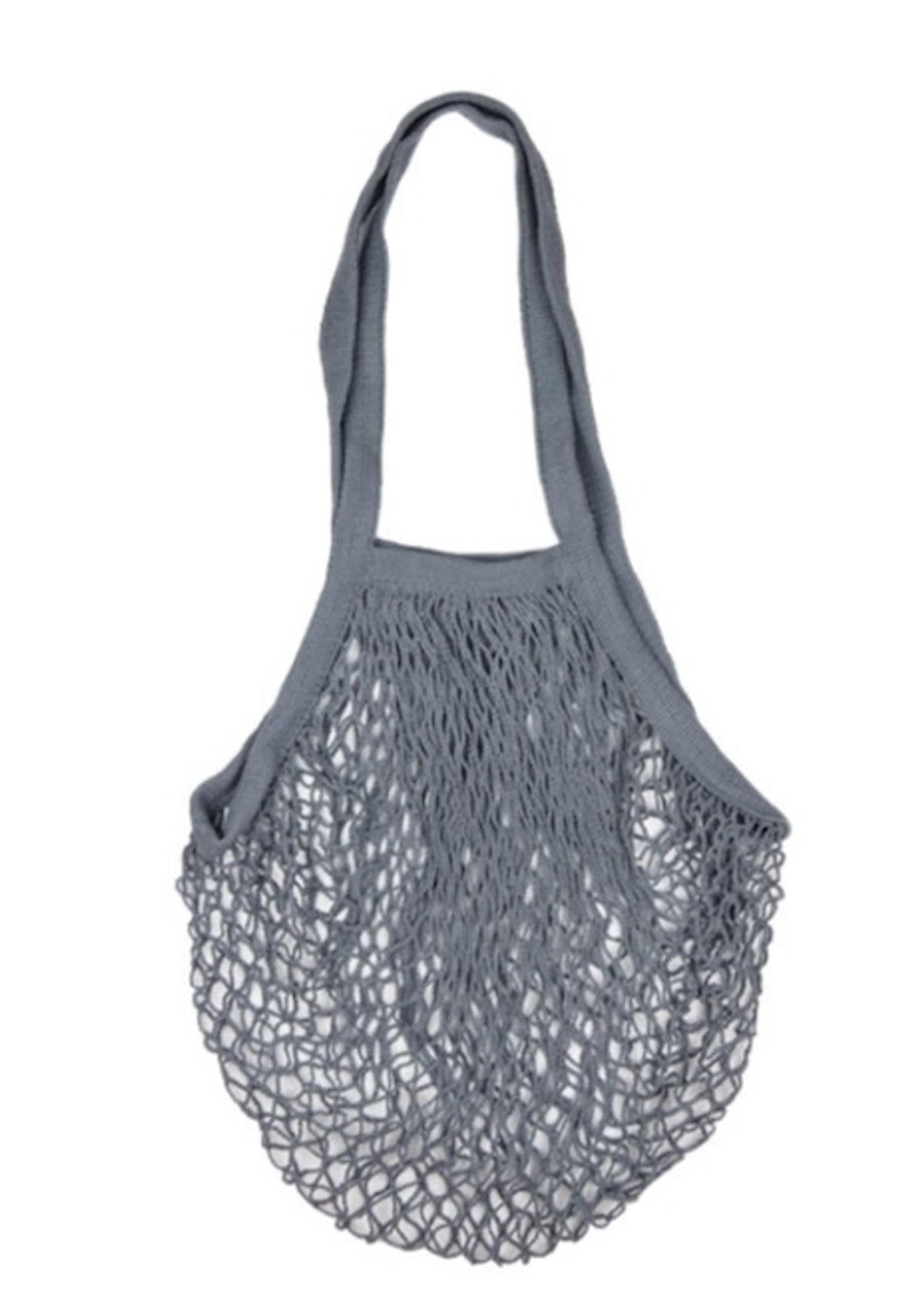 Zefiro French Market Bag- Grey Blue