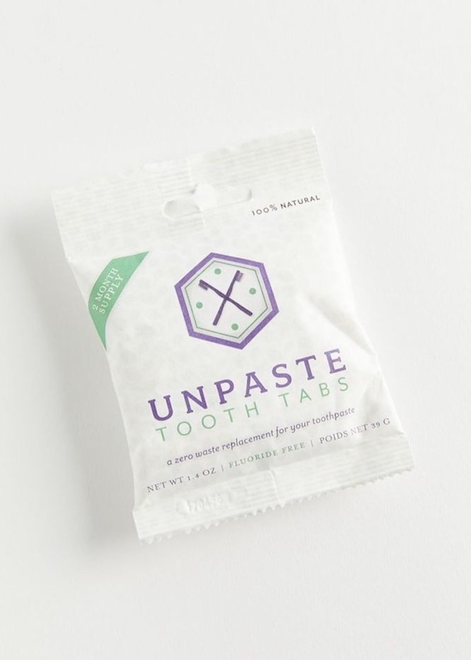 Unpaste Flouride Free Unpaste Tabs 1oz (about 100 tabs)