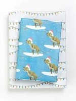 Wrappily Santasaurus Wrapping Paper