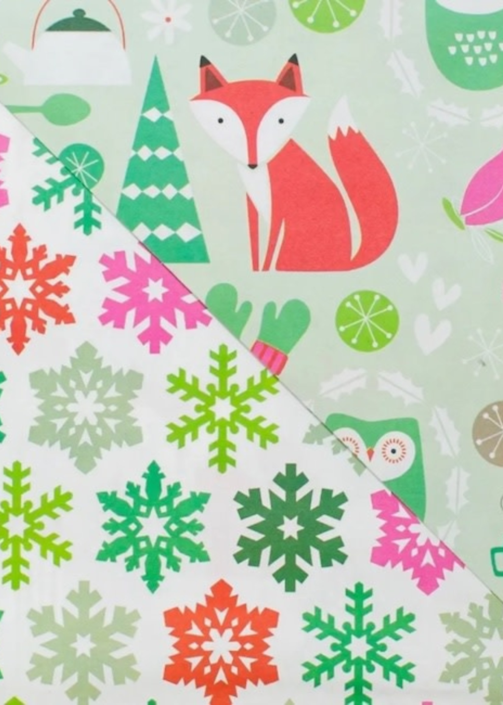 Wrappily Festive Forest Wrapping Paper