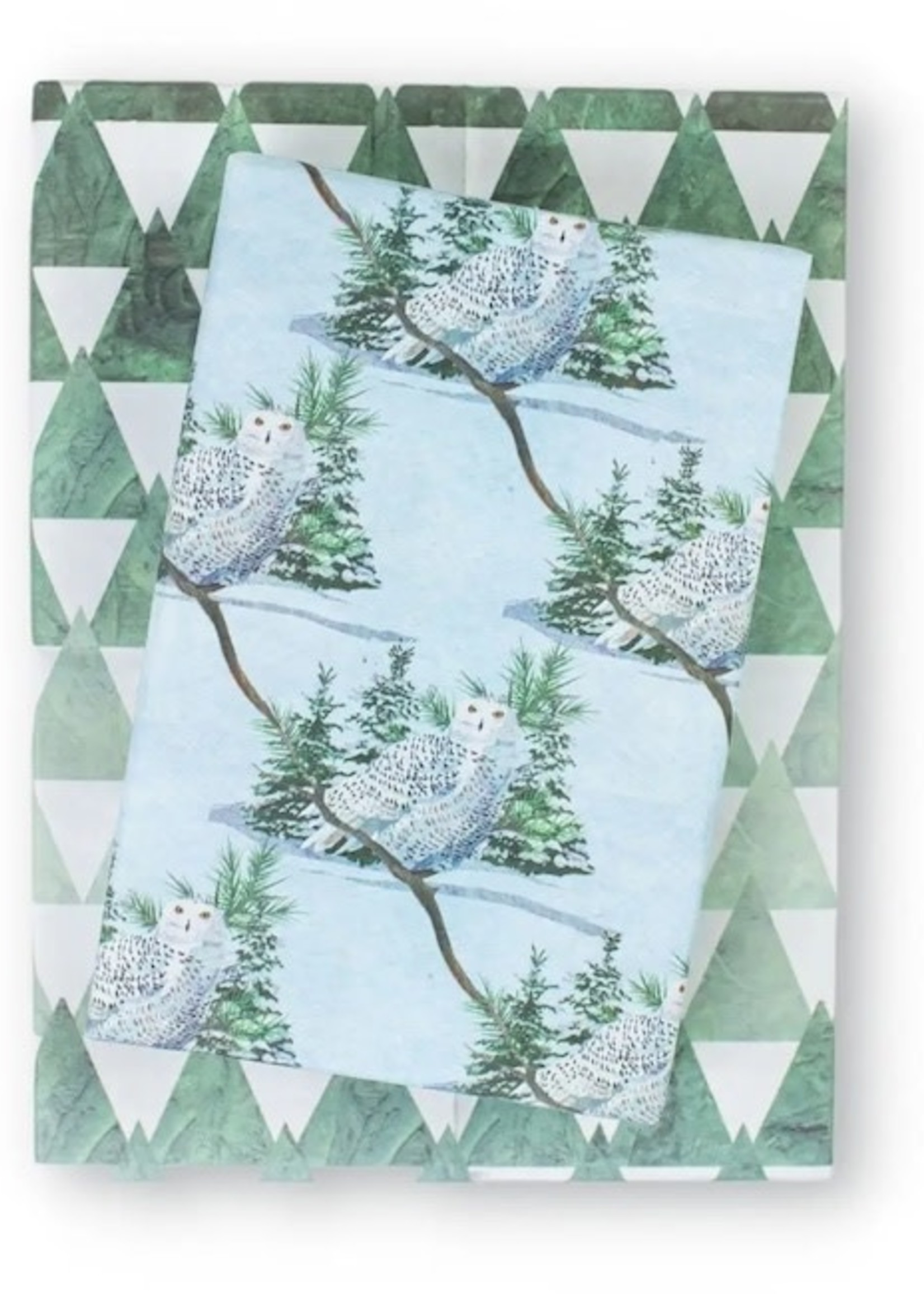 Wrappily Snowy Owl Wrapping Paper