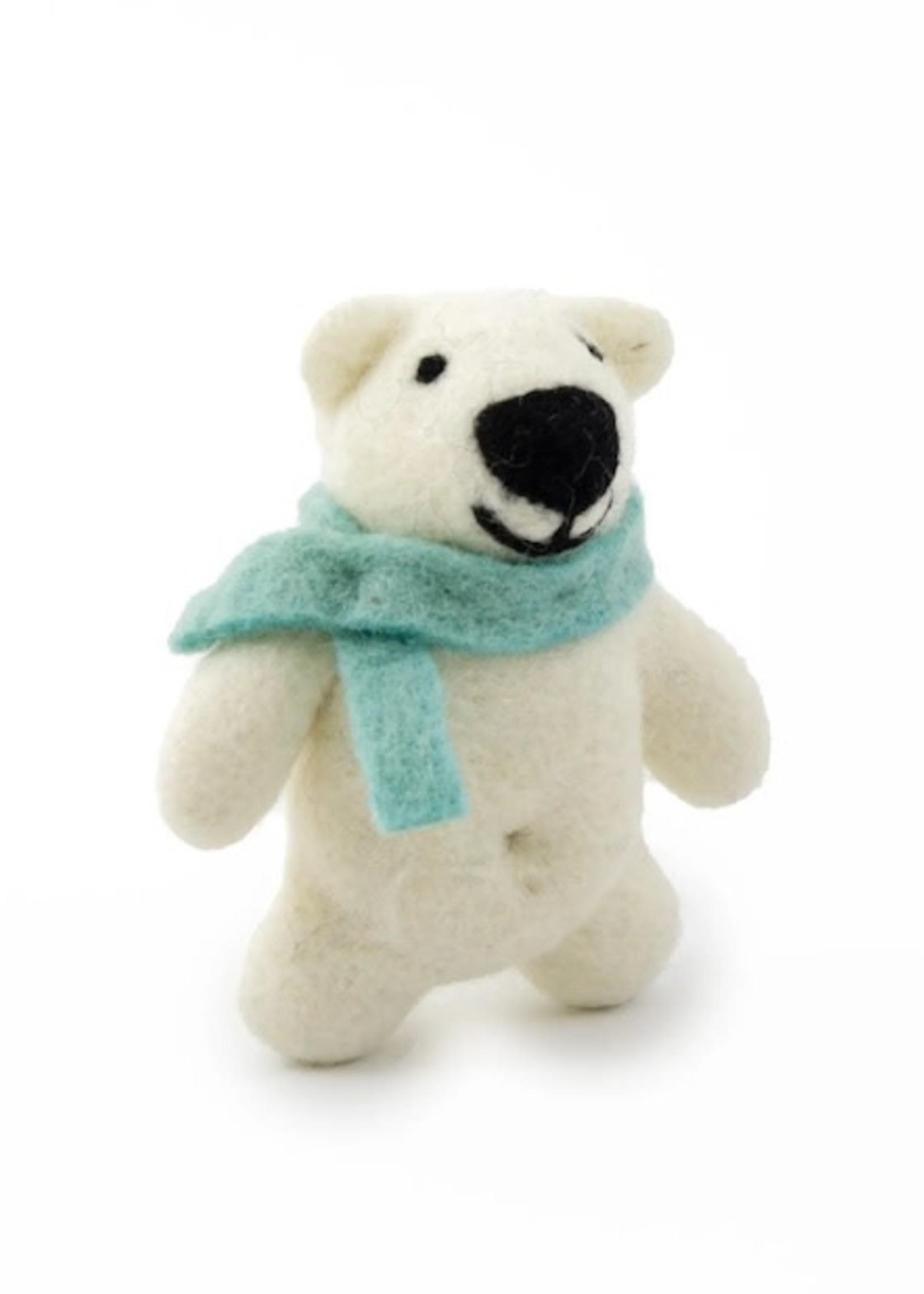 Friendsheep Teal Happy Bear Ornament