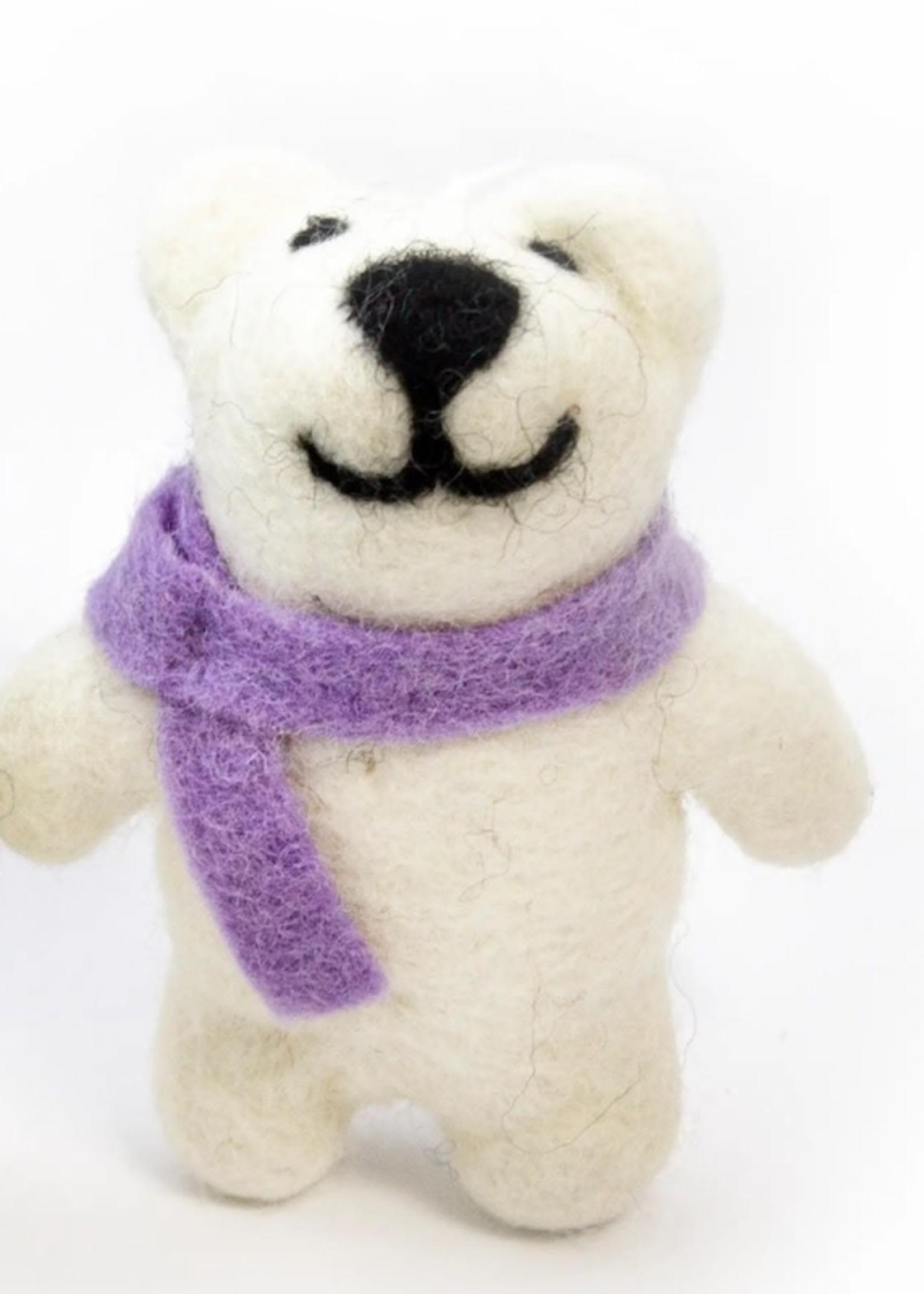 Friendsheep Purple Happy Bear Ornament
