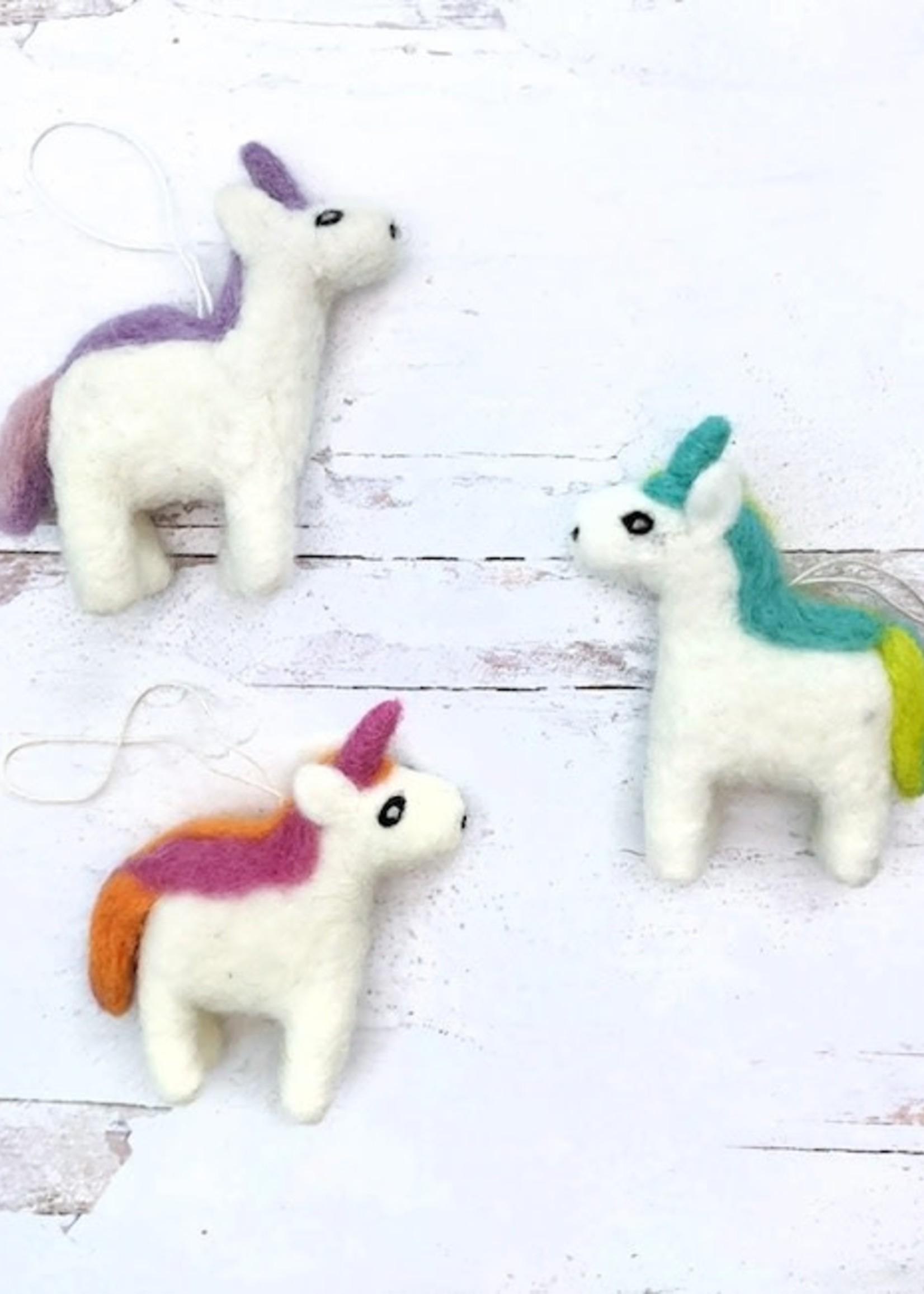 Friendsheep Green/Teal Unicorn Ornament