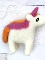 Friendsheep Pink/Orange Unicorn Ornament