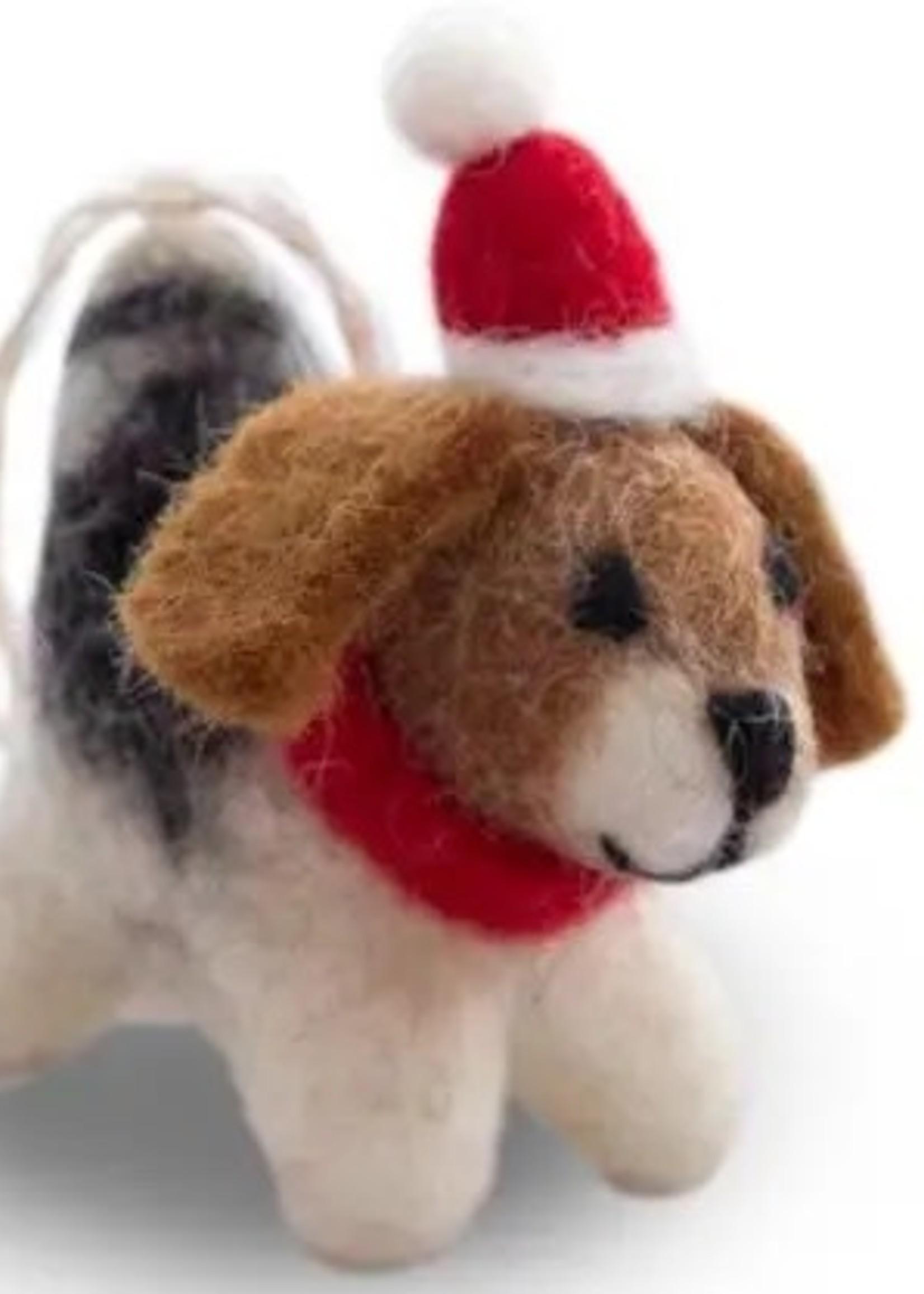 Friendsheep Santa's Puppy Ornament