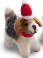 Friendsheep Santa's Papa Dog Ornament
