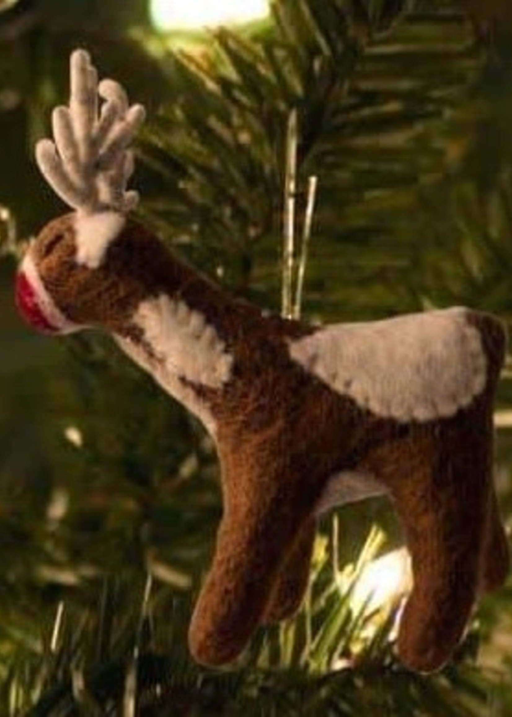 Friendsheep Tan Reindeer Ornament