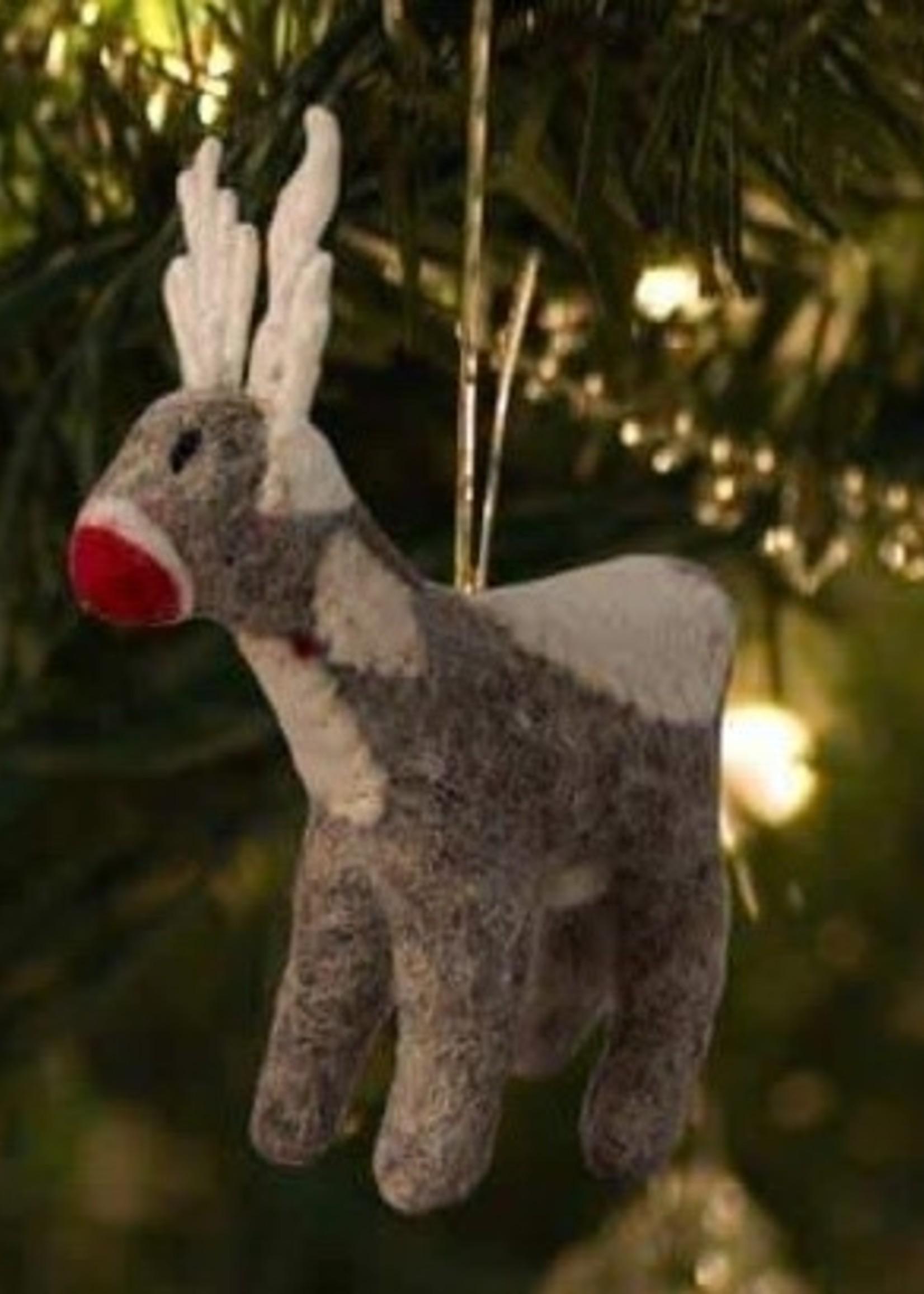Friendsheep Grey Reindeer Ornament