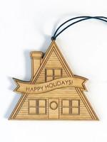 Savvie Studio A Frame Holiday Cabin Ornament