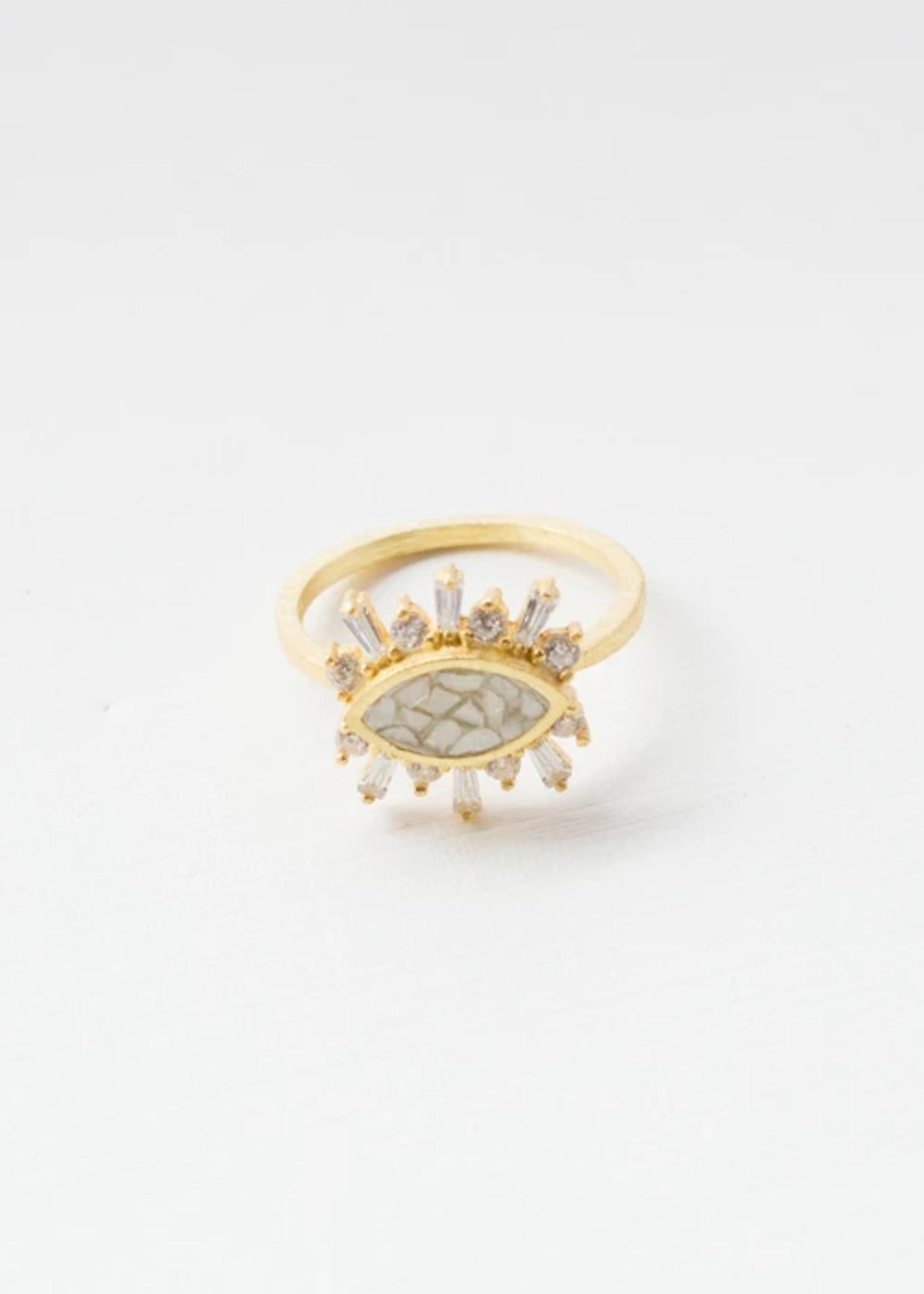 Joya Theodosia Ring White Deco