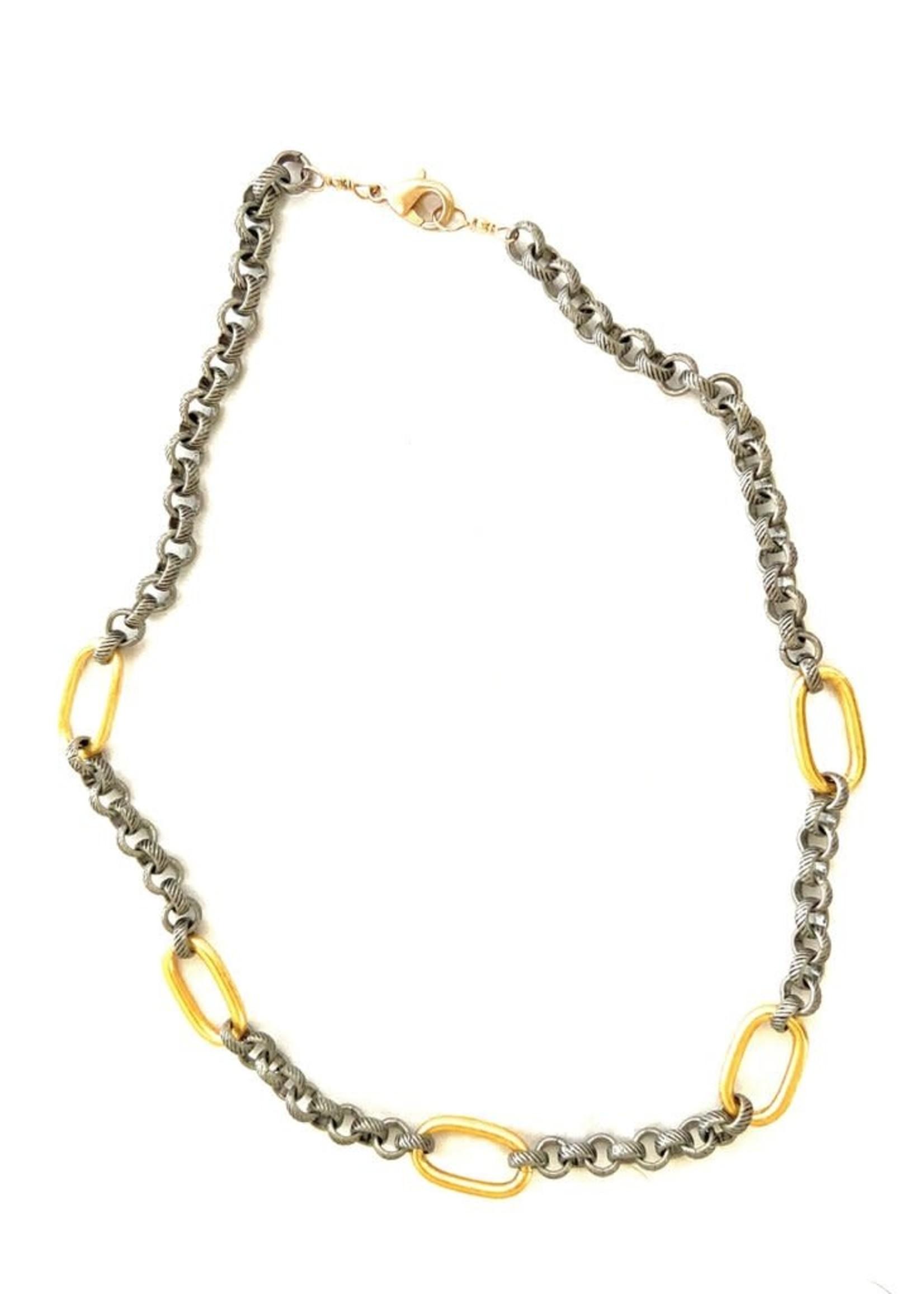CV Designs Mixed metals necklace