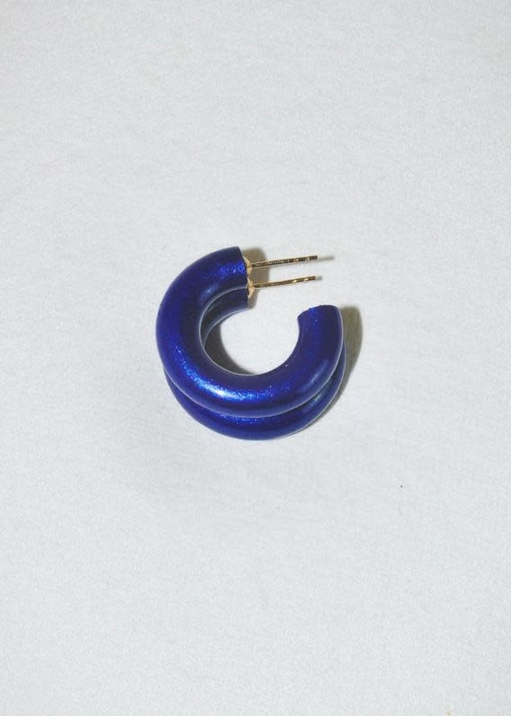 Binky & Lulu Blue Velvet Mini Hoop