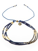 Caryn Lawn Triple Strand Bracelet- Navy